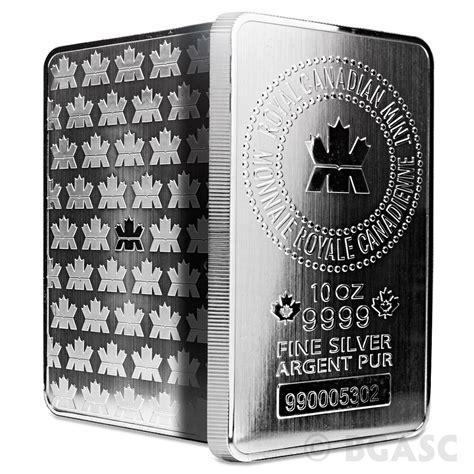 10 Oz Silver Bar - buy 10 oz silver bars royal canadian mint rcm 9999