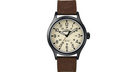 Expedition E6677 Black List Leather Brown For timex s expedition scout brown leather 40mm t49963um in brown for lyst