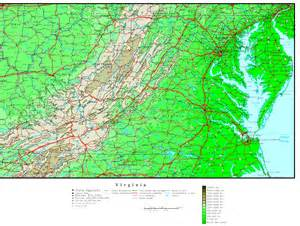 elevation map of virginia elevation map
