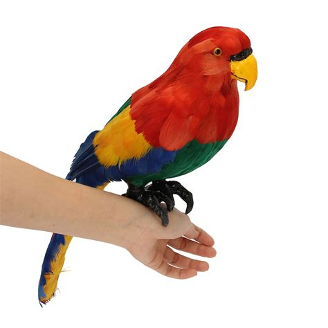 Parrot Decor by Artificial Plastic Parrot Animal Decor Handicraft Garden