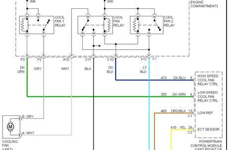 2002 chevy cavalier radiator fan not working fan wiring diagram 2001 chevy venture