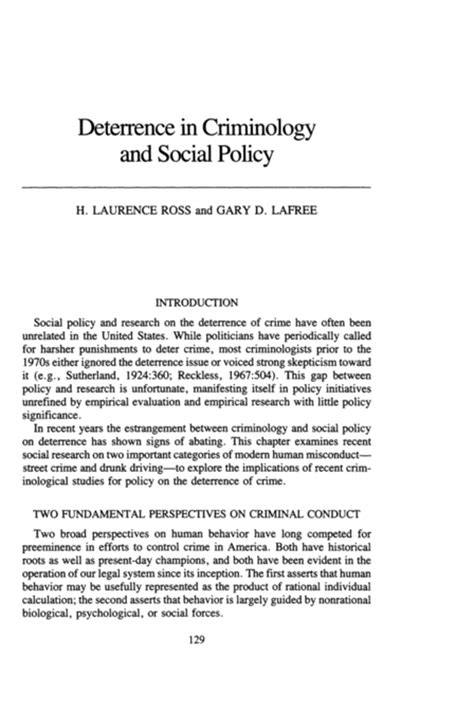 introductory criminology the study of risky situations books deterrence in criminology and social policy behavioral