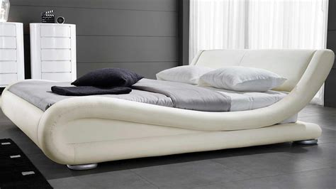 Contemporary Designer Beds 187 Stylform Marlo Leather Bed Zuri Furniture