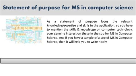 Ms In Computer Science Mba Stanford by Sle Statement Of Purpose Of Any For You Sle