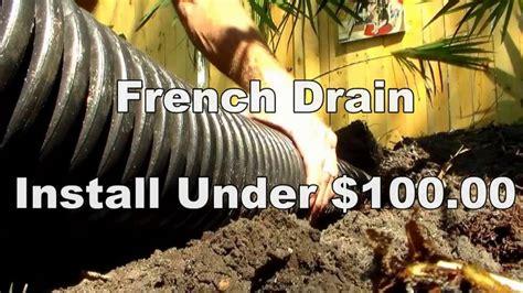 Diy French Drain Backyard