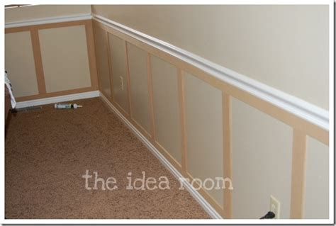 Easy Wainscoting Diy by Faux Wainscoting Diy Version 2 The Idea Room