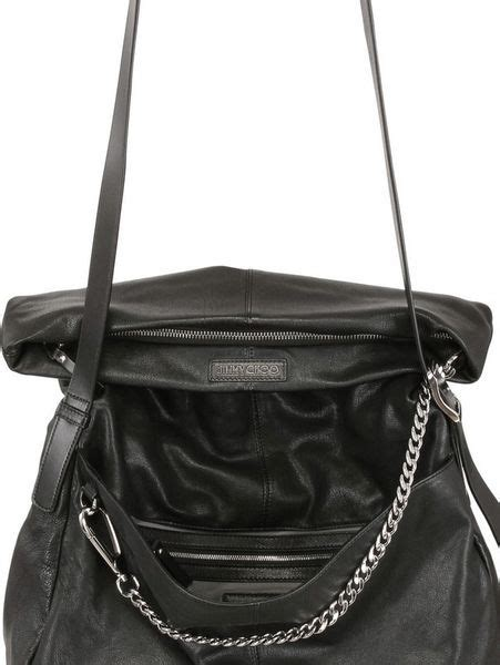 Jimmy Choo Ruse Messenger Bag by Jimmy Choo Biker Leather Messenger Bag In Black For Lyst