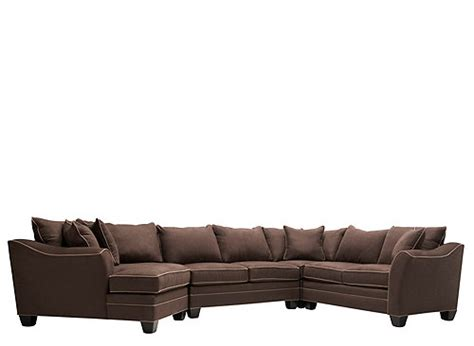 Foresthill 4 Pc Microfiber Sectional Sofa Sectional 4 Pc Sectional Sofa
