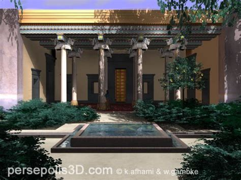 themes present in persepolis 3d reconstruction of the harem palace of the in