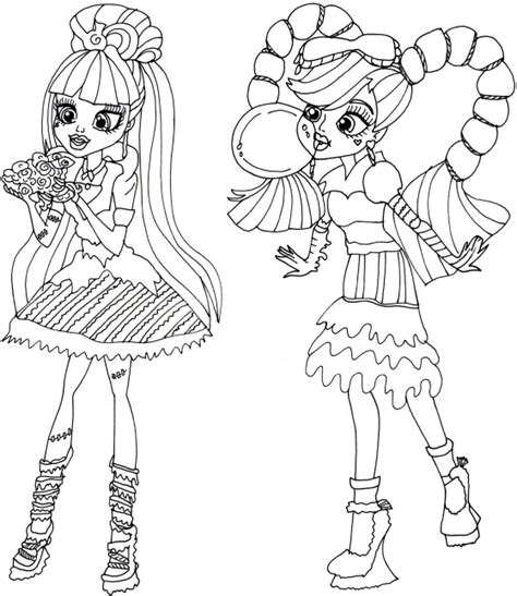 coloring pages for monster high dolls free printable monster high coloring pages sweet screams