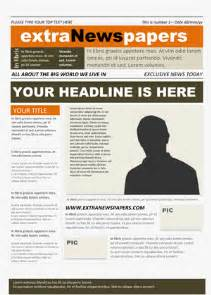Newspaper Templates Free by Free Newspaper Template Pack For Word For School