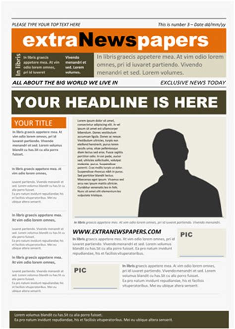 Newspaper Template Microsoft Newspaper Template