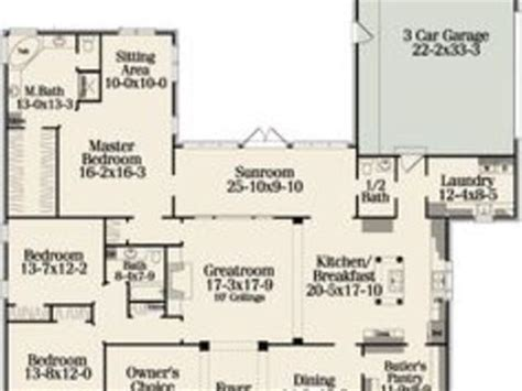 Best One Story Floor Plans by One Floor House Plans With Open Concept Best One Story