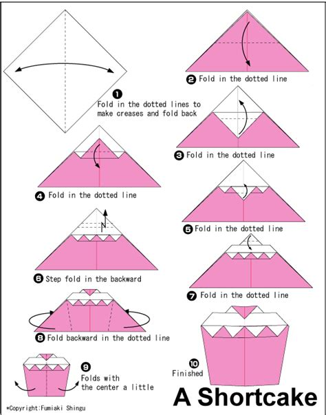Easy Origami Ideas - shortcake easy origami for