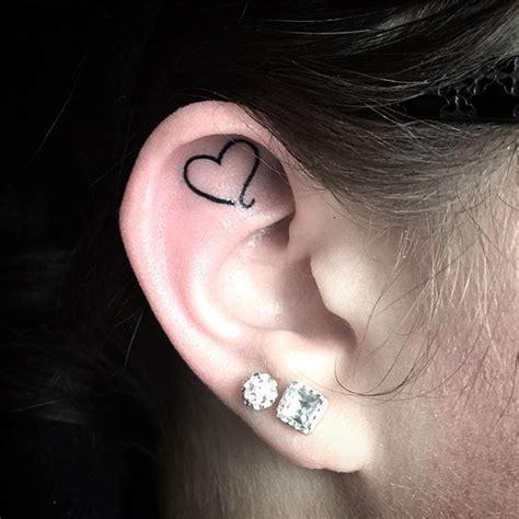 inner ear tattoos best 25 ear tattoos ideas on moon tatto