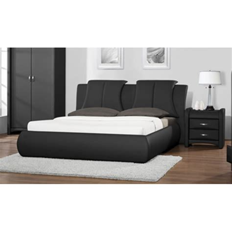 Leather Bed Frames For Sale Cheap Azure Black Faux Leather Bed Frame For Sale