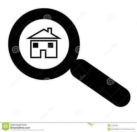 Haus Suchen by Suchen Haus Oder Nach Haus Stock Abbildung Illustration
