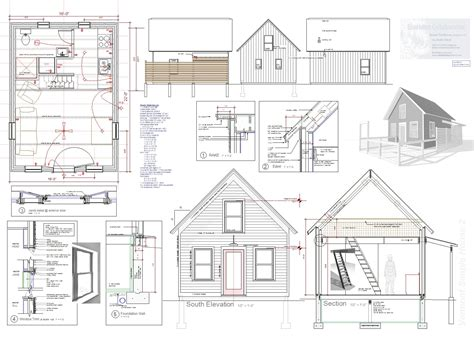 tiny house plans tiny house plan for sale robert swinburne vermont architect