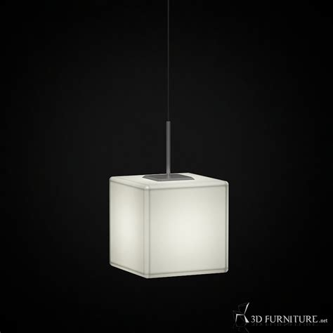 3D Modern Square Pendant Lamp   High quality 3D models