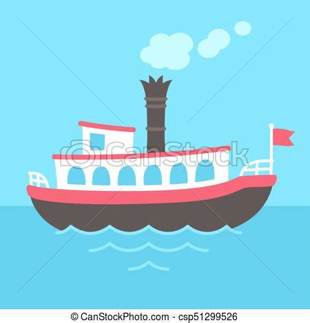 steamboat cartoon drawing cartoon steamboat ship cute cartoon retro riverboat