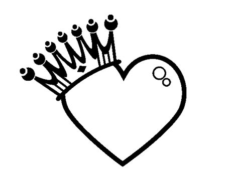 Heart Crown Coloring Page | free coloring pages of crown
