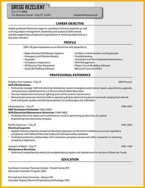 6 electrician resume bursary cover letter