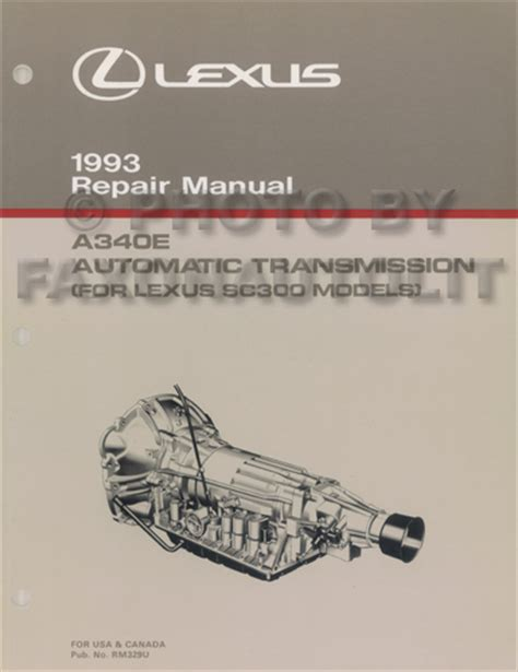 auto repair manual online 1993 lexus sc instrument cluster 1993 lexus es 300 sc 300 400 ls 400 features manual original