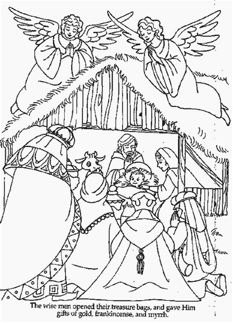 christmas coloring pages of nativity scene xmas coloring pages