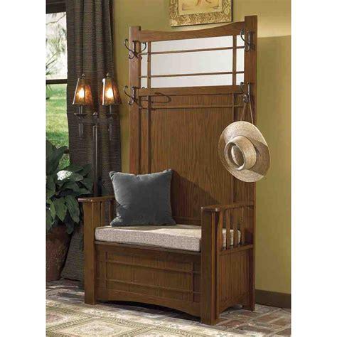 entryway hall tree  storage bench home furniture design