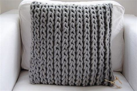 easy knit cushion cover top 25 best knitted pillows ideas on