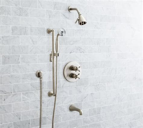 Held Shower For Bathtub by Warby Thermostatic Cross Handle Bathtub Held Shower