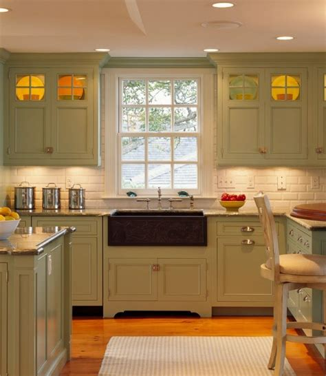 green cabinets kitchen olive green kitchen pinterest