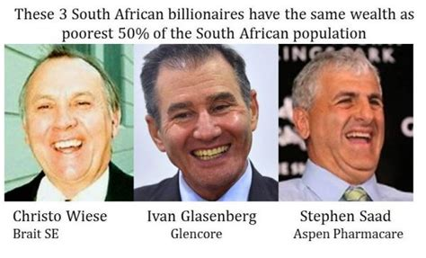 3 richest south africans wealth equal to the poorest 28 million oxfam