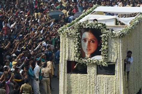 sridevi funeral sridevi funeral thousands line streets to mourn bollywood
