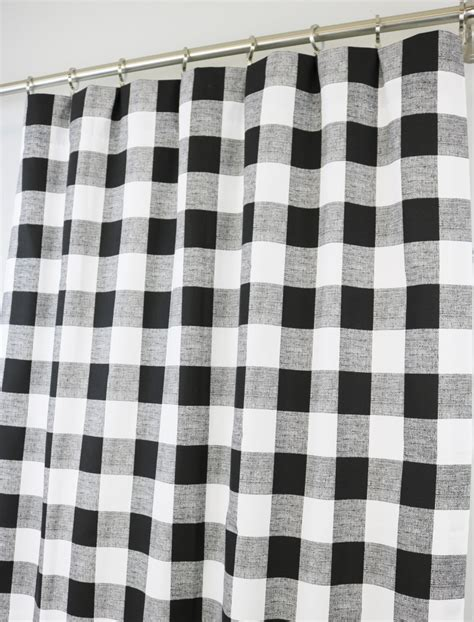 black buffalo check curtains black and white buffalo check curtains rod pocket 84 96