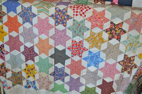 quilt pattern six pointed star the quilt barn vintage quilt thursday 6 pointed star