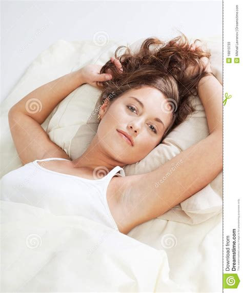 pretty in bed pretty in bed stock photos image 18813733
