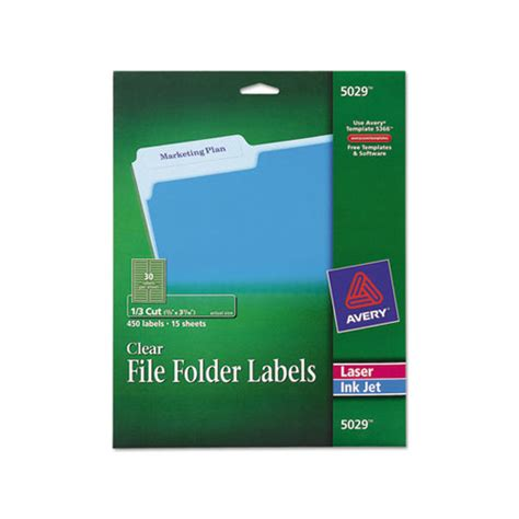 Avery Clear File Folder Labels Ave5029 Shoplet Com Avery Filing Label 5029 Template