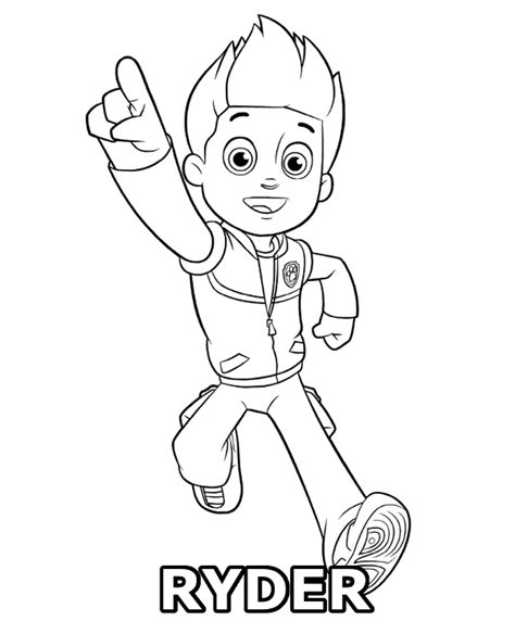 paw patrol spring coloring pages ryder coloring page paw patrol