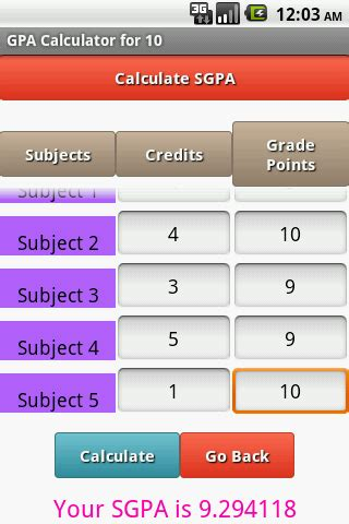 Gpa Of 3 29 For Mba by Gpa Calculator Android Apps On Play