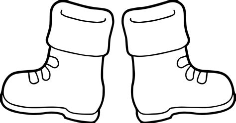 winter boots coloring page wecoloringpage