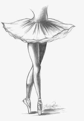 Desenho De Bailarina, A Linha, Ballet, O Cisne Pequeno