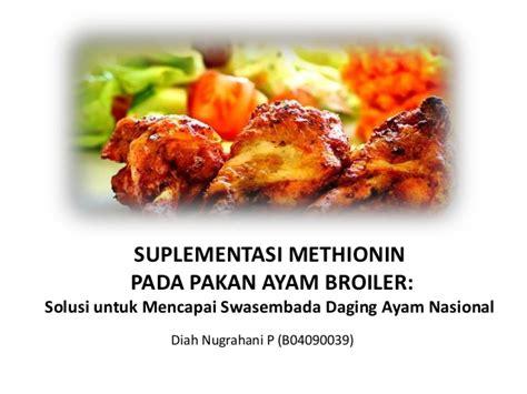 Kipas Untuk Ayam Broiler suplementasi methionin pada pakan ayam broiler