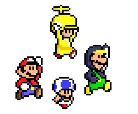 famous characters in pixel art mario and luigi new super mario bros wii pixel by jaaopedro on deviantart