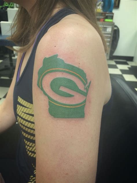 green bay tattoos packers from ken at sonic tattoos in green bay