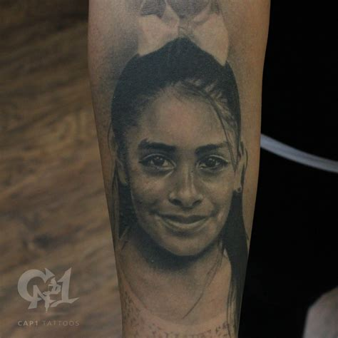 black and grey portrait tattoo dvd photorealistic girl portrait by capone tattoonow