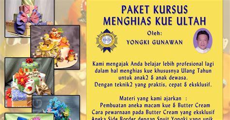 Pisau Ulang Tahun yongki gunawan kursus memasak membuat kue paket