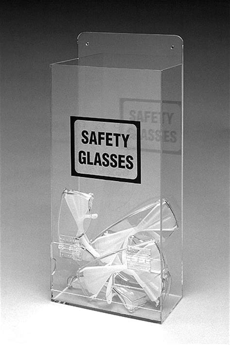 tabletop or wall mount safety goggles glasses dispenser