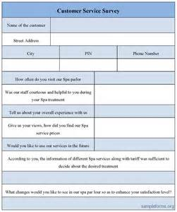 customer survey form template customer satisfaction survey template pdf