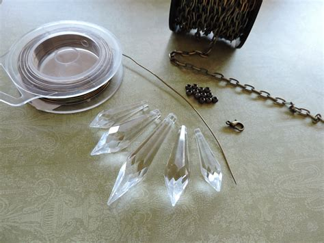 supplies needed to make jewelry swarovski prism necklace rings and things